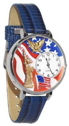 Whimsical Watches July 4th Patriotic Watch in Silver (Large)