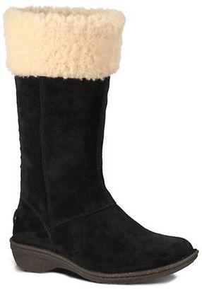 Ugg Karyn Sheepskin Suede Mid-Calf Boots $200 thestylecure.com