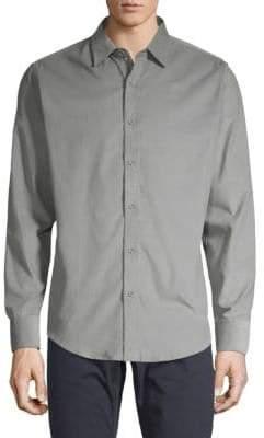 Saks Fifth Avenue BLACK Long-Sleeve Corduroy Button-Down Shirt