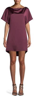 Jay Godfrey JAY X JAYGODFREY Cowl-Back Satin Mini Dress