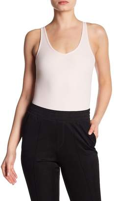ATM Anthony Thomas Melillo V-Neck Ribbed Tank Bodysuit