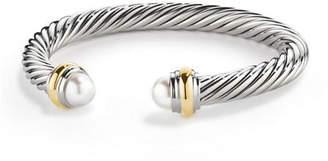David Yurman Cable Classics Bracelet with Semiprecious Stones & 14K Gold, 7mm