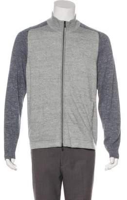 Theory Two-Tone Zip Sweater