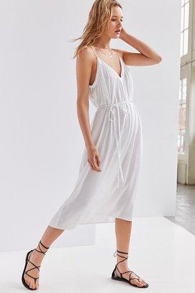 Kimchi Blue Belted Midi Slip Dress $79 thestylecure.com