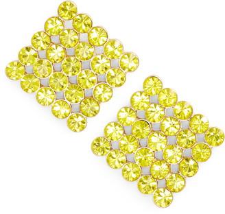 Stella + Ruby Billie Crystal Square Stud Earrings
