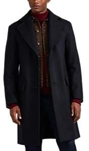 Officine Generale Men's Wool-Blend Melton Topcoat - Navy