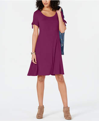 Style&Co. Style & Co Tie-Sleeve Dress