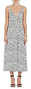 Derek Lam WOMEN'S NET-PRINT SILK SLEEVELESS MIDI-DRESS