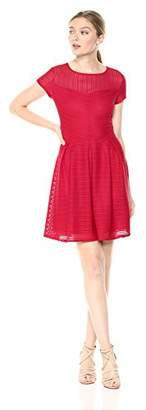 Armani Exchange A X Women's Sheer Collar a-Line Dress