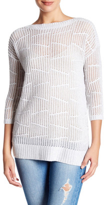 Kinross Cashmere Pointelle Boatneck Sweater $134.97 thestylecure.com