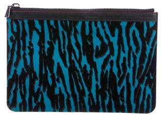Proenza Schouler Velvet & Leather Zip Pouch