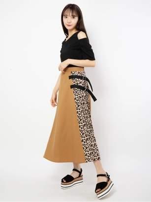 CECIL McBEE (セシル マクビー) - セシルマクビー [WEB限定]レオパードブロッキングスカート