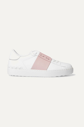 Valentino Garavani Open Two-tone Leather Sneakers - Pastel pink