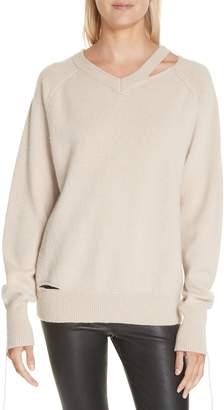 Helmut Lang Slash Neck Sweater