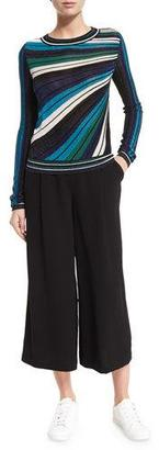 Diane von Furstenberg Joletta Metallic Striped Pullover $328 thestylecure.com
