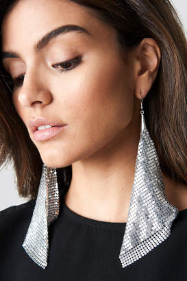 Hannalicious X Na Kd Hanging Metal Mesh Earrings