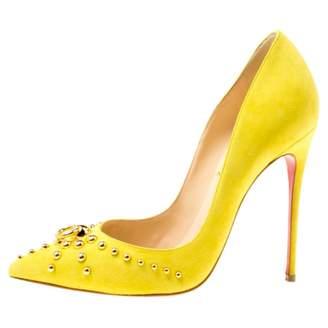 9ad75429ce55 Christian Louboutin Yellow Suede Heels