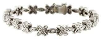 18K Diamond 'X' Link Bracelet