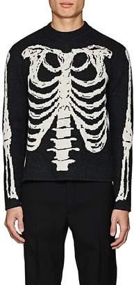 Saint Laurent Men's Skeleton-Knit Wool Sweater