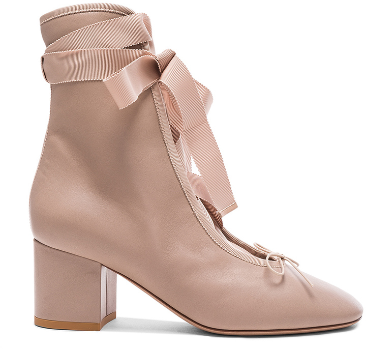 Valentino Leather Ballet Booties