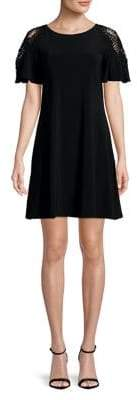 Gabby Skye Plus Short-Sleeve Lace Dress