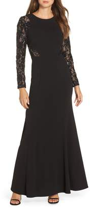 Eliza J Embellished Lace Gown