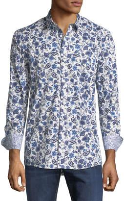Duchamp Floral Paisley Sport Shirt