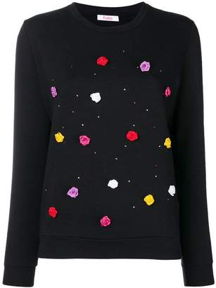 Blugirl rose detail sweater