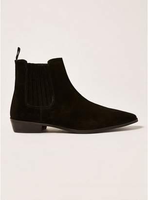 Topman Mens Black Suede Trail Chelsea Boots