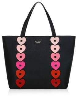 Kate Spade Yours Truly Ombre Heart Leather Tote - BLACK MULTI - STYLE