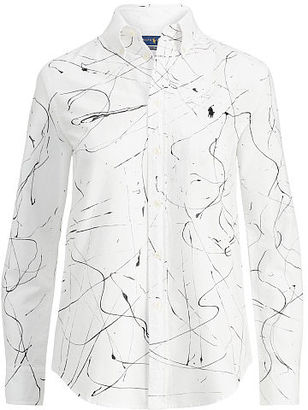 Polo Ralph Lauren Relaxed Painted Oxford Shirt $145 thestylecure.com