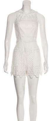 Alexis High-Rise Lace Romper White High-Rise Lace Romper