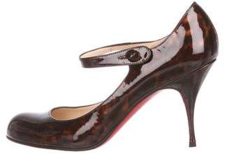 Christian Louboutin Patent Leather Mary-Jane Pumps