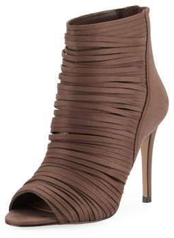 BCBGeneration Elle Strappy Peep-Toe Booties