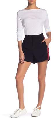 Grey Lab Side Snap Button Stripe Shorts