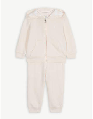Ralph Lauren Embroidered logo cotton-blend tracksuit 3-24 months