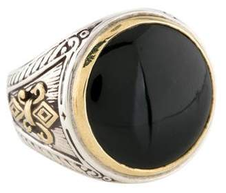 Konstantino Onyx Etched Cocktail Ring