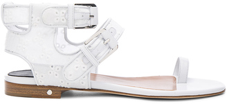 Laurence Dacade Eyelet Diego Sandals $979 thestylecure.com