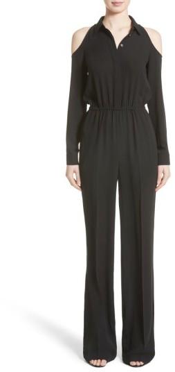 Women's Michael Kors Silk Georgette Cold Shoulder Jumpsuit