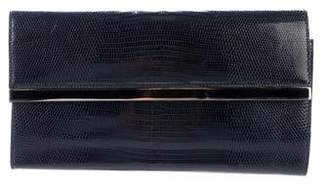Mark Cross Embossed Leather Clutch