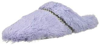 Dearfoams Women's Pile Scuff with Woven Trim Slipper