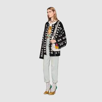 """Gucci """"Blind for Love"""" jacquard wool coat"""