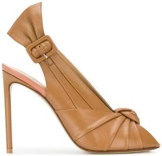 29728e5800ae Francesco Russo knot front slingback sandals