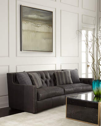 Bernhardt Madeline Tufted Leather Sofa