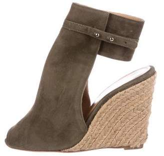 Hotel Particulier Suede Espadrille Wedges w/ Tags