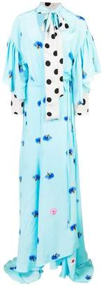 Natasha Zinko mixed print maxi dress