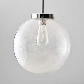 Pottery Barn Teen Textured Glass Pendant, Clear/Nickel