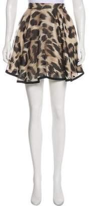 Lover Animal Print Silk Skirt w/ Tags