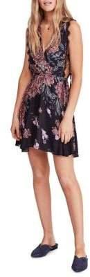 Free People Marnie Printed Mini Fit--Flare Dress