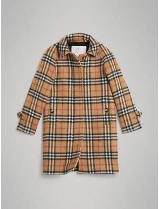 Burberry Childrens Vintage Check Alpaca Wool Blend Car Coat